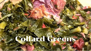 Mouth watering Southern Collard Greens with Smoked Neckbones
