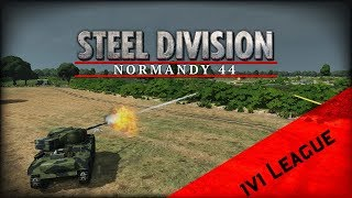 Steel Division 1v1 League Asia. Game 2 vs Gal_Oneill - no commentary Reddevils vs Luftwaffe