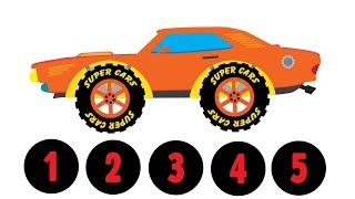 Orange Sport Car| Numbers for kids