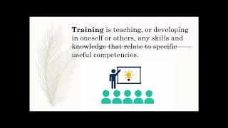 What is Training? Definitions of Training Information Video by Upcoming Movies Knowledge Sharing