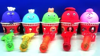 5 Colors  in IceCream Cups | Surprise Toys with 5 Surprise Eggs