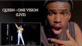 FIRST TIME WATCHING | Queen - One Vision (Live At Wembley) | REACTION