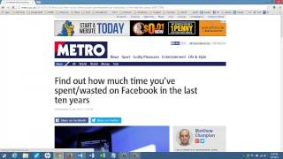 How Much Time are You Wasting on Facebook?  UofSO.com Lesson 112