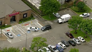Armored car robbery outside bank