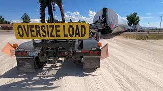 Loaded Schnabel Trailer Leaving The Casper, Wyoming Storage Yard[Steerman Helmet Cam POV]