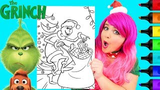 Coloring The Grinch Steals Christmas Presents Coloring Page Prismacolor Markers | KiMMi THE CLOWN