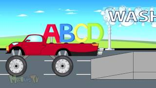 Alphabet Adventure   ABCD Letters Get Clean In Car Wash   Video For Kids