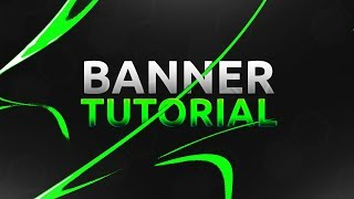 HOW TO MAKE CLEAN BANNER IN PHOTOSHOP (CC/CS6)
