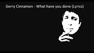 Gerry Cinnamon - What have you done (lyrics)