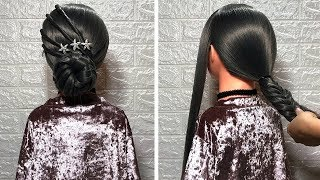 Amazing New Hairstyle Tutorial with Long Hair for Event | Transformation Hairstyle | HOT Hairstyle