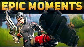 Epic Fortnite Moments - Ninja IMPOSSIBLE Save, Ceez Loses Big Bet, INSANE Launchpad Snipe!