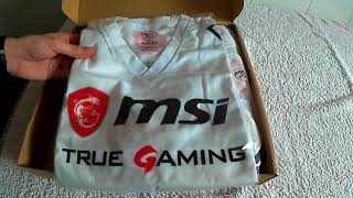 Camisetas oficiales MSI Project ODR    Unboxing y Review