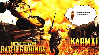 Karma! PUBG Best Moments #1 (PUBG Battle Royale Funny Fails and WTF Moments)