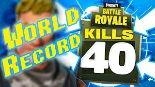 Fortnite Battle Royale WORLD RECORD 40 kills ( Ninja & KingRIchard)