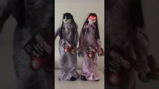 halloween animated standing moving ghost girls