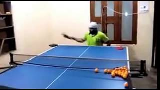 Indian wheelchair table-tennis player takes part in a practice session/para table tennis