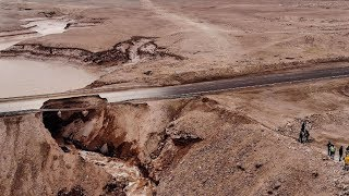 Heavy rain in northern Chile causes rivers to overflow