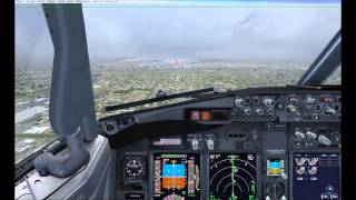 Landing in MIA FSX PMDG B737-800 Watch in HD