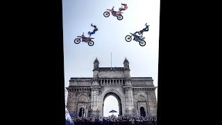 Bike Stunts / Red Bull Fmx at the iconic in Gateway of India.. Mum