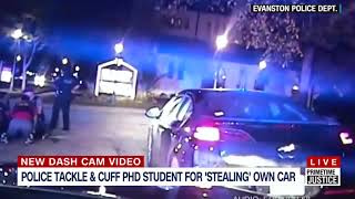 CAUGHT ON DASH CAM  Police tackle and arrest a Northwestern PhD student suspe....mp4