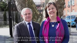 Sheila Nunan with Brendan Howlin on Protecting Jobs and Brexit