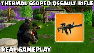 THERMAL SCOPED ASSAULT RIFLE SAVE THE WORLD GAMEPLAY! - Fortnite Battle Royale NEW GUN! (UPDATE)