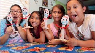 Making Forky with my nieces