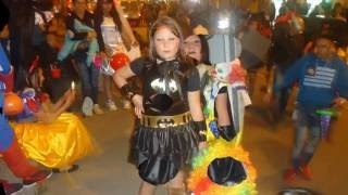 Boy disguised as BatGirl for Halloween 2016