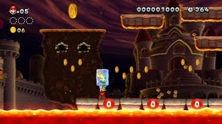 New Super Mario Bros. U -- Mini Goomba Cleanup for 1-Ups in Magma-River Cruise