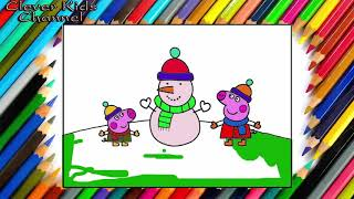 Peppa Pig Learn Drawing & Coloring for Kids – Peppa Pig English Episodes Newpilation 2016!