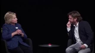 Hillary Clinton Gets Grilled By Zach Galifianakis | Between two ferns Hillary Clinton