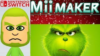 Mii Maker Christmas How to Create Grinch From The Grinch