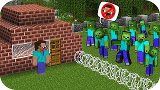 BIG SECRET IN Minecraft NOOB vs. PRO- How to hide from the zombie in Minecraft!
