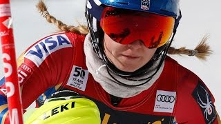 Shiffrin in Striking Distance After 1st Slalom Run at Finals