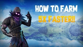 Fortnite ~ HOW TO FARM MATERIALS 5X FASTER!!! (FAST PICKAXE) (ANIMATION CANCELLATION)