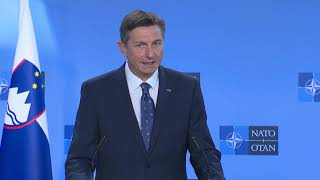 Joint Press Conference by the NATO Secretary General and the President of the Republic of Slovenia