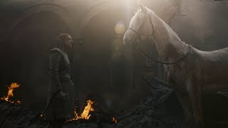 Game of Thrones 8x05 Arya with the white Horse 1080p