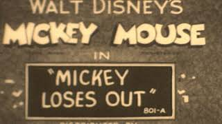 Mickey's Melodies and Mickey Loses Out - Early 1930s Micky Mouse