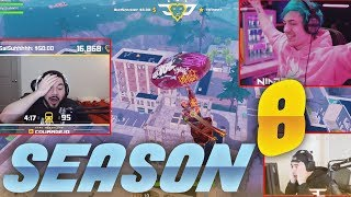 Streamers REACT to FORTNITE SEASON 8 - WTF, Funny & Epic Moments #1
