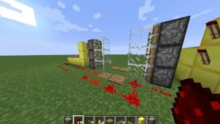 Minecraft Automatic Piston Door