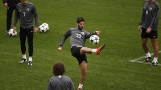 isco amzing  control and pass spain training