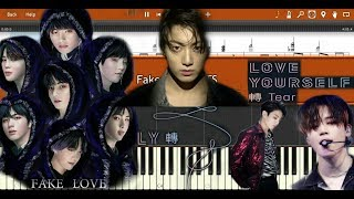 BTS - FAKE LOVE (Synthesia Piano Tutorial)