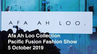 Afa Ah Loo collection at the Pacific Fusion Fashion Show, 5 October 2019