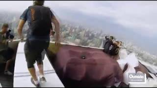 BASE JUMP & WINGSUIT BIG CRASH (but no fatalities)