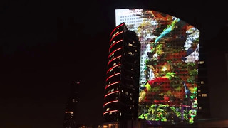 Dubai -World's Largest Water Screen Projection Guinness World Records!!