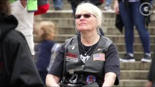 """Admiral James """"Ace"""" Lyons at Rolling Thunder event"""