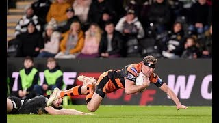 Hull FC 18 26 Castleford Tigers Michael Shenton scores two tries