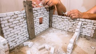 BRICKLAYING - HOW TO BUILD HOUSE STEP BY STEP DIY