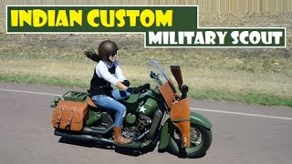Indian Custom Military Scout, newest project to honor the century-long history of the Scout model