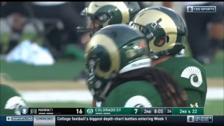 [NCAAF] Hawai'i vs Colorado State | Week 1 - August 25, 2018